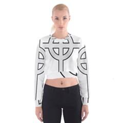 Celtic Cross  Cropped Sweatshirt