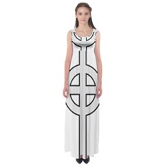 Celtic Cross  Empire Waist Maxi Dress