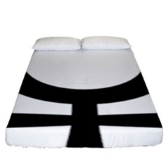 Coptic Ankh  Fitted Sheet (king Size)
