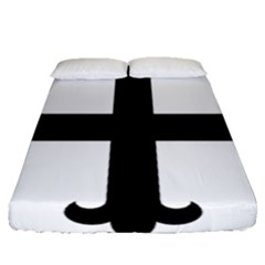 Cross Fleury Fitted Sheet (Queen Size)