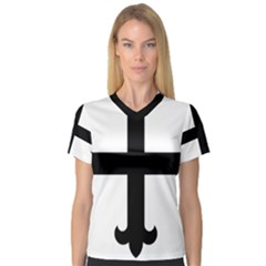 Cross Fleury Women s V-Neck Sport Mesh Tee
