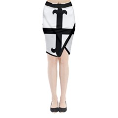 Cross Fleury Midi Wrap Pencil Skirt