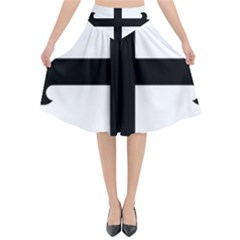 Cross Fleury Flared Midi Skirt