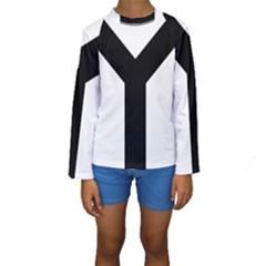 Forked Cross Kids  Long Sleeve Swimwear