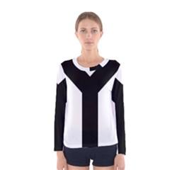 Forked Cross Women s Long Sleeve Tee