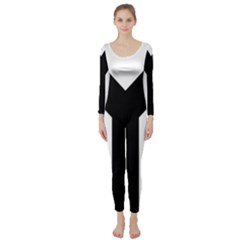 Forked Cross Long Sleeve Catsuit
