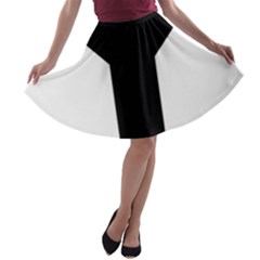 Forked Cross A-line Skater Skirt