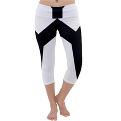Forked Cross Capri Yoga Leggings