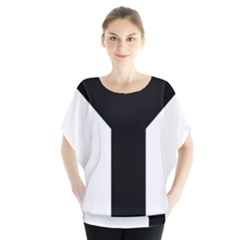 Forked Cross Blouse