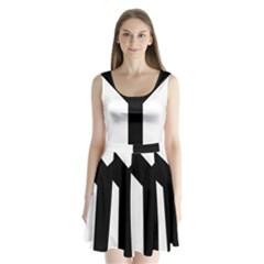 Forked Cross Split Back Mini Dress