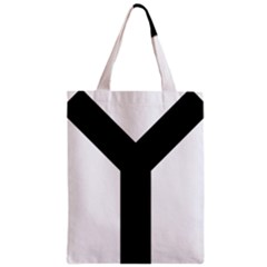 Forked Cross Zipper Classic Tote Bag