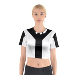 Forked Cross Cotton Crop Top
