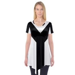 Forked Cross Short Sleeve Tunic