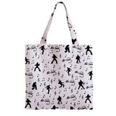 Elvis Presley pattern Zipper Grocery Tote Bag