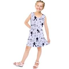Elvis Presley pattern Kids  Tunic Dress
