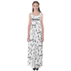 Elvis Presley pattern Empire Waist Maxi Dress