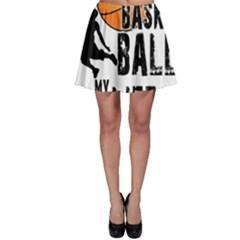 Basketball is my life Skater Skirt