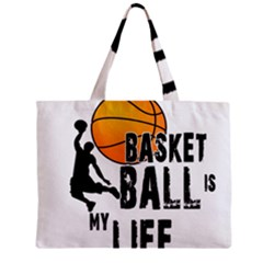 Basketball is my life Zipper Mini Tote Bag