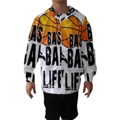 Basketball is my life Hooded Wind Breaker (Kids)