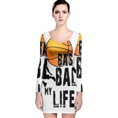 Basketball is my life Long Sleeve Velvet Bodycon Dress
