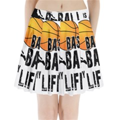 Basketball is my life Pleated Mini Skirt