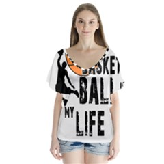 Basketball is my life Flutter Sleeve Top