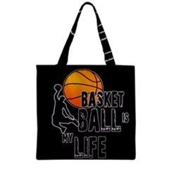 Basketball is my life Grocery Tote Bag