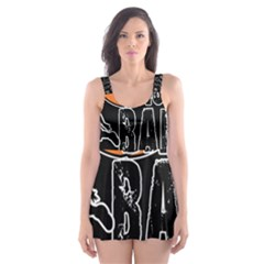 Basketball is my life Skater Dress Swimsuit