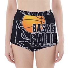 Basketball is my life High-Waisted Bikini Bottoms
