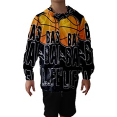 Basketball is my life Hooded Wind Breaker (Kids)