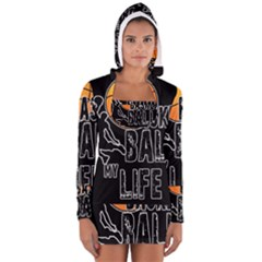 Basketball is my life Women s Long Sleeve Hooded T-shirt