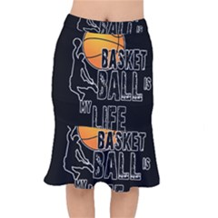 Basketball is my life Mermaid Skirt