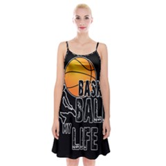 Basketball is my life Spaghetti Strap Velvet Dress