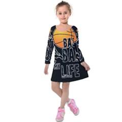 Basketball is my life Kids  Long Sleeve Velvet Dress
