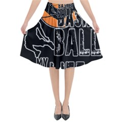 Basketball is my life Flared Midi Skirt