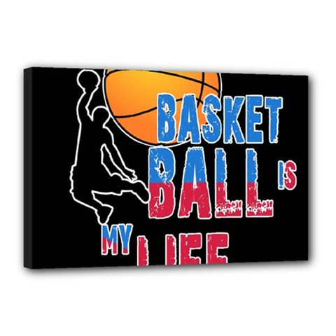 Basketball is my life Canvas 18  x 12