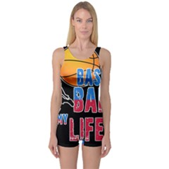 Basketball is my life One Piece Boyleg Swimsuit