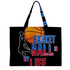 Basketball is my life Zipper Mini Tote Bag