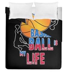 Basketball is my life Duvet Cover Double Side (Queen Size)