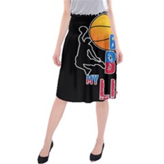 Basketball is my life Midi Beach Skirt