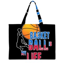 Basketball is my life Large Tote Bag