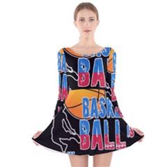 Basketball is my life Long Sleeve Velvet Skater Dress
