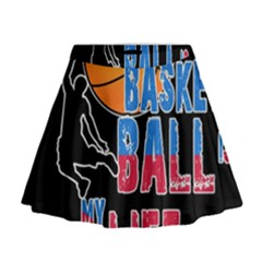 Basketball is my life Mini Flare Skirt