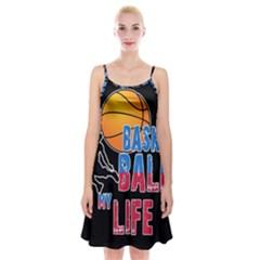 Basketball is my life Spaghetti Strap Velvet Dress