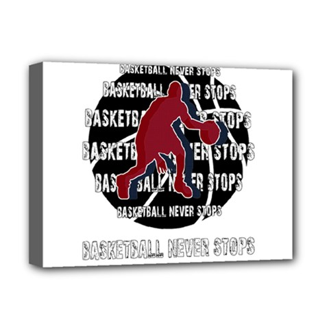 Basketball never stops Deluxe Canvas 16  x 12