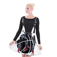 Basketball Never Stops Suspender Skater Skirt