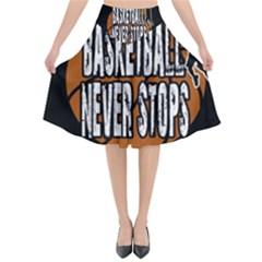 Basketball Never Stops Flared Midi Skirt