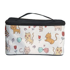 Kittens And Birds And Floral  Patterns Cosmetic Storage Case