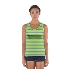 Decorative Lines Pattern Women s Sport Tank Top