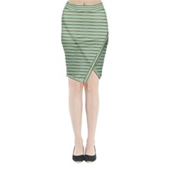 Decorative lines pattern Midi Wrap Pencil Skirt